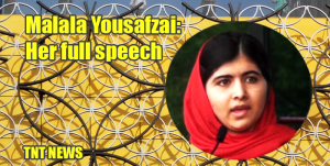Malala Yousafzai: Her full speech