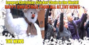 Longest Christmas Cracker Chain in the World!